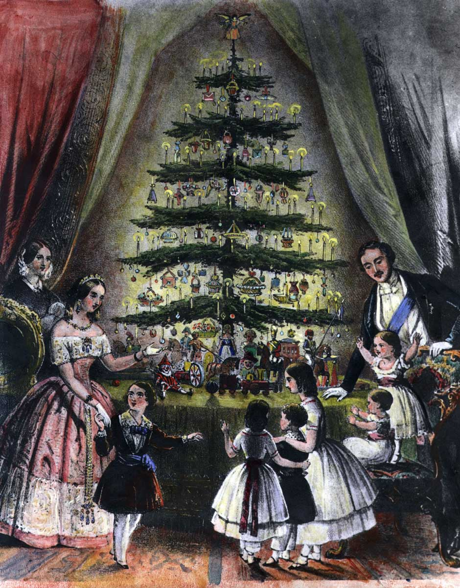 The English Royal Family around the Christmas Tree