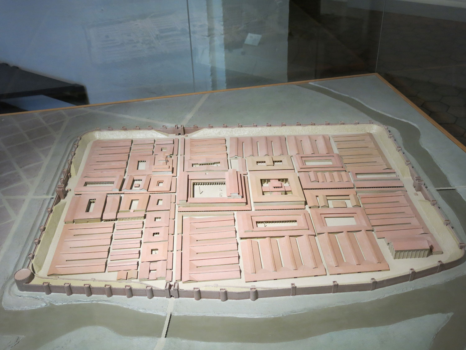 Model of the Roman camp of Argentoratum at the Archaeological Museum of Strasbourg