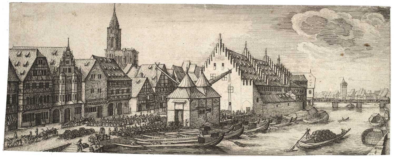 The S'Kaafhus or the Old Customs House in the 17th century