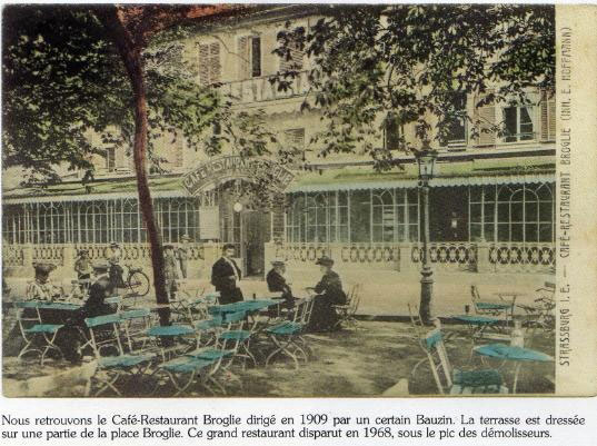 The terrace of Café Broglie in the years 1910's - 20's