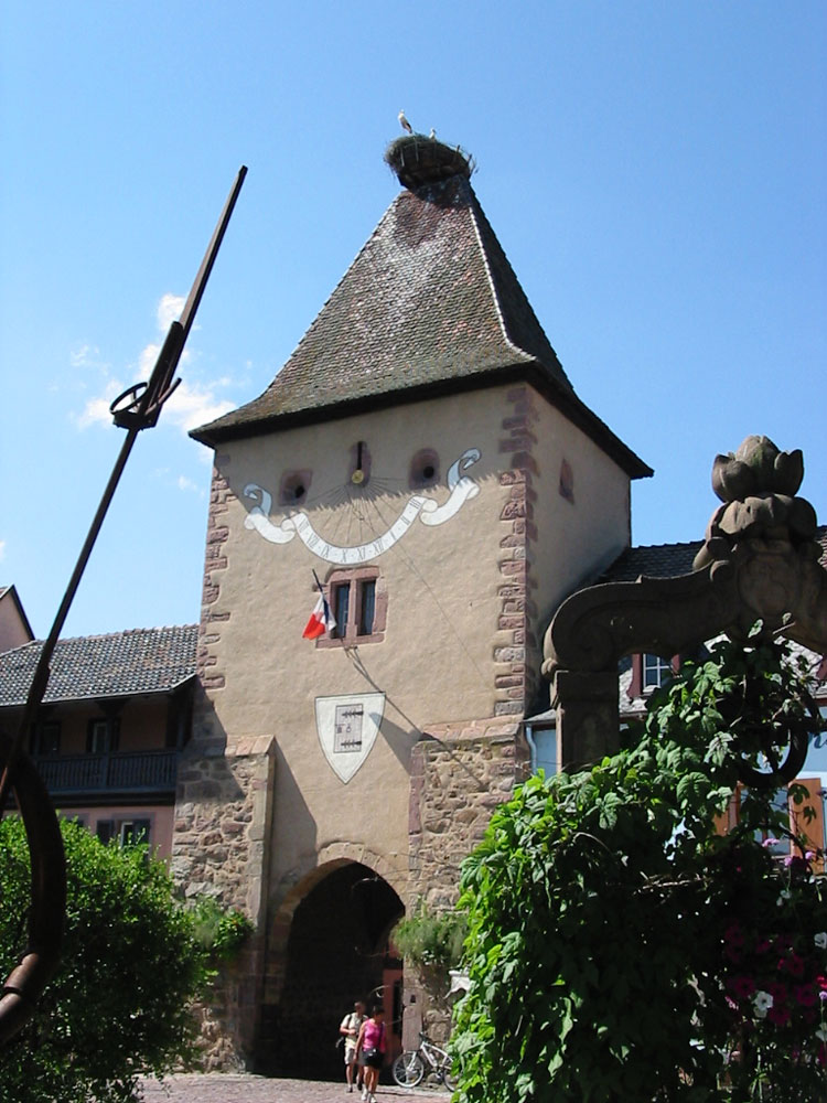Untertor or Porte de France in Turckheim (it is not THIS nest that holds the record)
