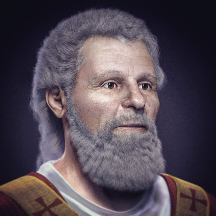 Facial reconstruction of Valentine of Terni