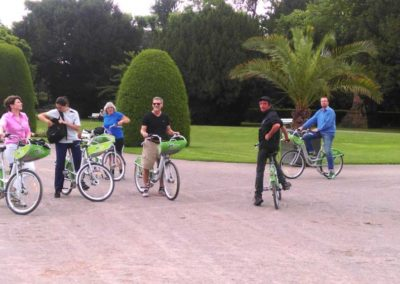 Visite vélo avec Josh au Parc de l'Orangerie de Strasbourg