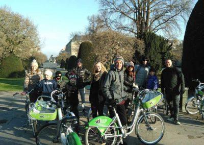 Visite vélo au Parc de l'Orangerie de Strasbourg