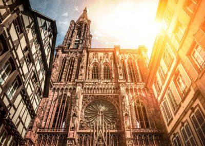 La cathédrale de Strasbourg ensoleillée