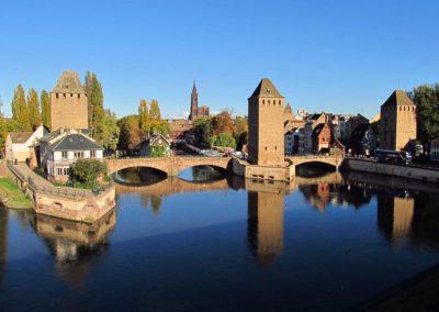 Les Ponts Couverts de Strasbourg depuis le Barrage Vauban