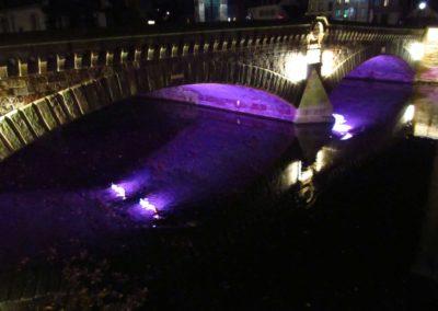 Les Ponts Couverts de Strasbourg de nuit