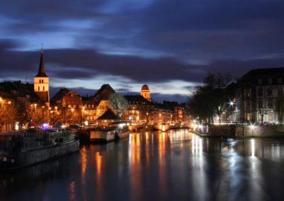 Le quai des Pêcheurs de nuit à Strasbourg