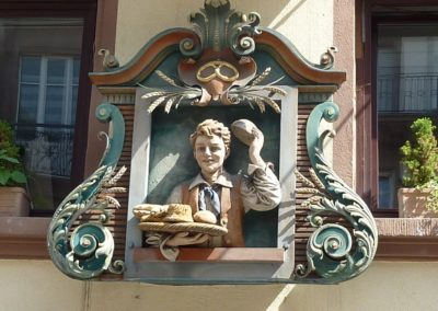 Enseigne de boulangerie bretzel