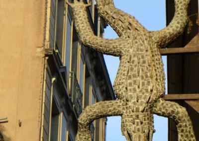 Enseigne du restaurant le Crocodile à Strasbourg