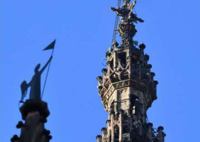 La flèche de la cathédrale de Strasbourg avec le Rot un Wiss le 11 novembre 2018