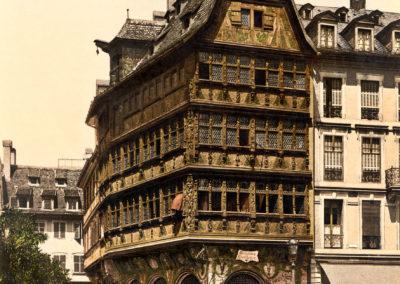 La Maison Kammerzell à Strasbourg entre 1890 et 1900