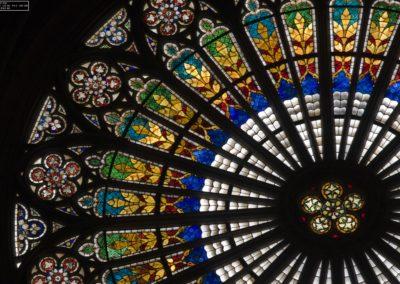 Vitrail rosace de la cathédrale de Strasbourg