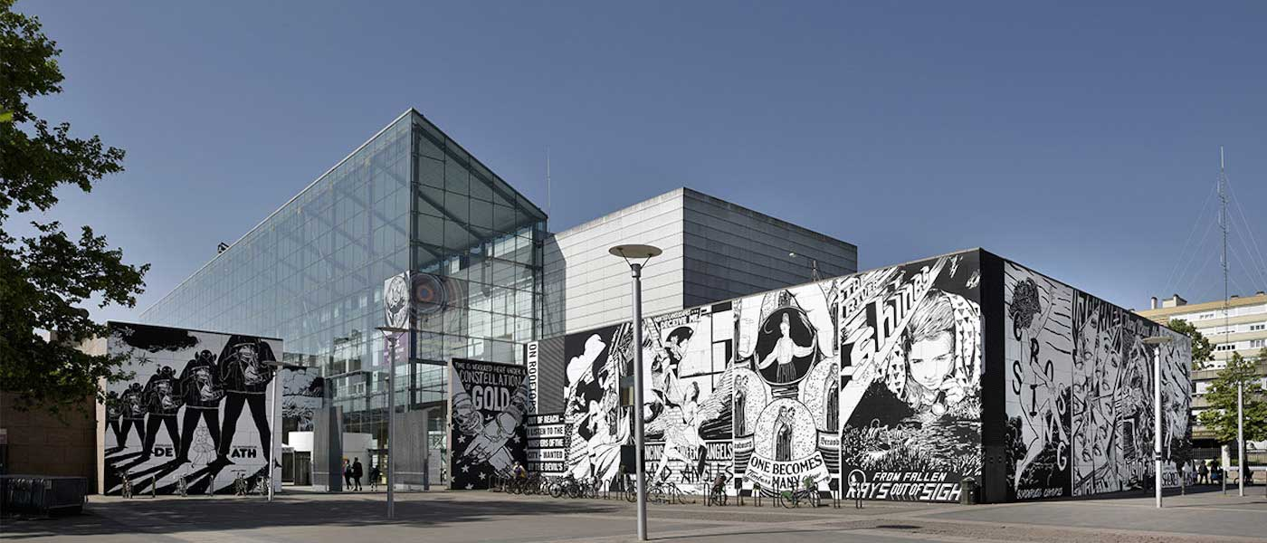 The facade of the Strasbourg Museum of Modern and Contemporary Art by FAIL