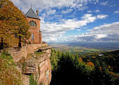 Vue sur le Mont Sainte-Odile en Alsace